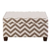 Right2Home Weston Chevron Storage Ottoman