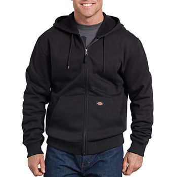 Dickies Mens Big-Tall Midweight Fleece Full Zip Hooded Sweatshirt