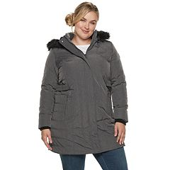 Plus Size Weathercast Hooded Heavyweight Puffer Jacket