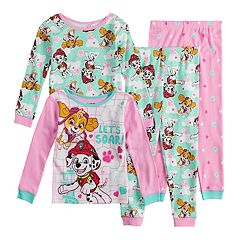 Toddler Girl Paw Patrol Skye & Marshall Top & Bottoms Pajama Set
