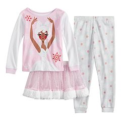 Disney's The Nutcracker and the Four Realms Toddler Girl Sugar Plum Fairy Top, Bottoms & Tutu Pajama Set