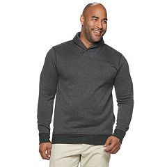 Big & Tall SONOMA Goods for Life™ Supersoft Sweater Fleece Shawl-Collar Sweater