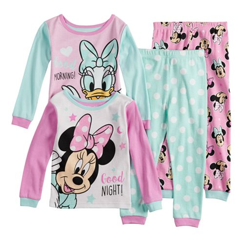Disney's Minnie Mouse & Daisy Duck Baby Girl Tops & Bottoms Pajama Set