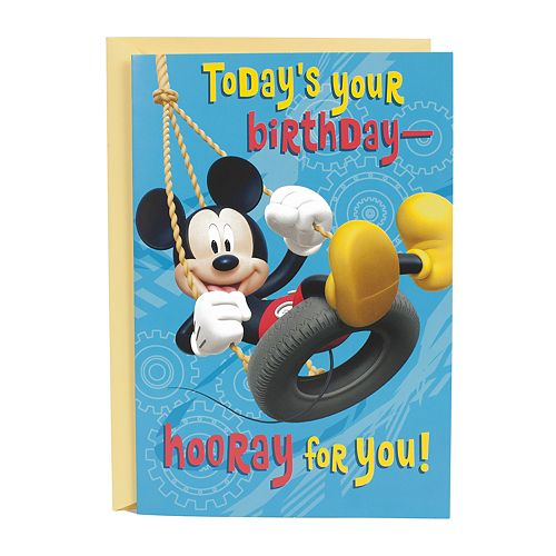 "Hallmark Birthday Greeting Card ""Mickey Mouse Clubhouse"" Kids Greeting Card"