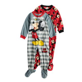Disney's Mickey Mouse Toddler Boy 2-pack Fleece Footed Pajamas
