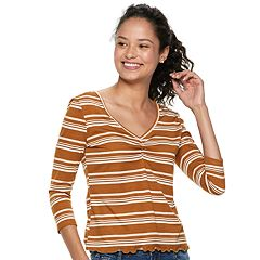 Juniors' Mudd® Cinched Top