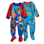 Toddler Boy Paw Patrol Skye, Rubble, Chase & Marshall 2-pack Fleece Footed Pajamas