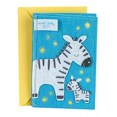 Hallmark Signature New Baby 'Sweet Baby Boy' Greeting Card