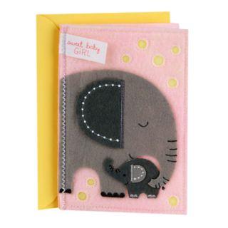 "Hallmark Signature New Baby ""Sweet Baby Girl"" Greeting Card"