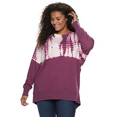 Juniors' Plus Size SO® Raglan Long Sleeve Crew Top