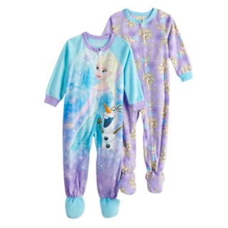 Disney's Frozen Elsa & Olaf Toddler Girl 2-pack Footed Pajamas
