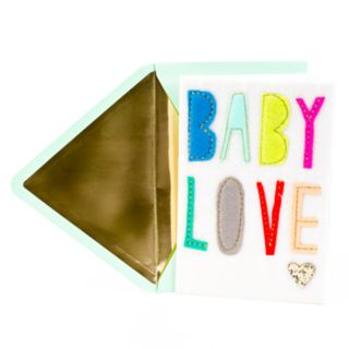 "Hallmark Signature New Baby Congratulations ""Baby Love"" Greeting Card"