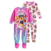 Toddler Girl 2-pack Paw Patrol Chase, Marshall & Skye Footed Pajamas