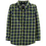 Boys 4-12 Carter's Checked Flannel Button Down Shirt