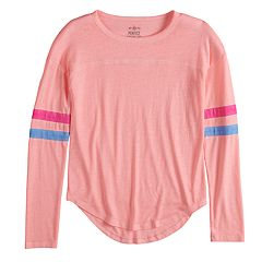 Girls 7-16 SO® Striped Varsity Tee
