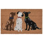 Liora Manne Frontporch Three Dogs Indoor Outdoor Rug