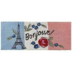 Liora Manne Frontporch ''Bonjour'' Indoor Outdoor Rug