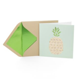 """Hallmark Signature """"Pineapple"""" Greeting Card"""