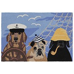 Liora Manne Frontporch Arrf Ye Mateys Dogs Indoor Outdoor Rug