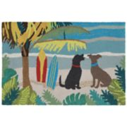 Liora Manne Frontporch Dog Beach Indoor Outdoor Rug