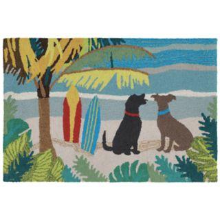 Liora Manne Frontporch Dog Beach Indoor Outdoor Rug