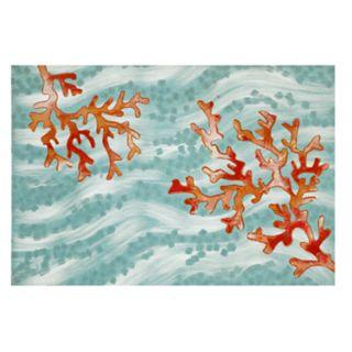 Liora Manne Illusions Coral Wave Indoor Outdoor Doormat