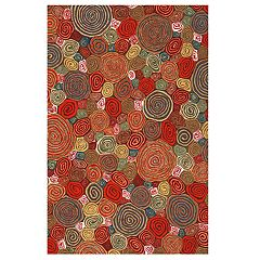 Liora Manne Illusions Giant Swirls Geometric Indoor Outdoor Doormat - 19 1/2'' x 29 1/2''