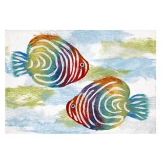 Liora Manne Illusions Rainbow Fish Indoor Outdoor Doormat