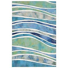 Liora Manne Illusions Wave Striped Indoor Outdoor Doormat - 19 1/2'' x 29 1/2''