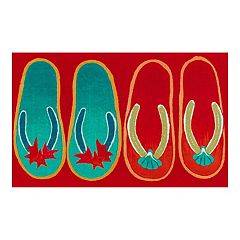 Liora Manne Illusions Flip Flops Ombre Indoor Outdoor Doormat - 19 1/2'' x 29 1/2''