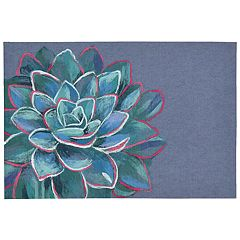 Liora Manne Illusions Succulent Floral Indoor Outdoor Doormat - 19 1/2'' x 29 1/2''