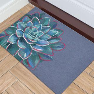 Liora Manne Illusions Succulent Floral Indoor Outdoor Doormat