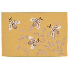 Liora Manne Illusions Bees Indoor Outdoor Doormat
