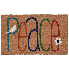 Liora Manne Natura ''Peace'' Indoor Outdoor Coir Doormat - 18'' x 30''
