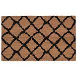 Liora Manne Natura Ikat Lattice Indoor Outdoor Coir Doormat - 18'' x 30''