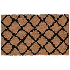 Liora Manne Natura Ikat Lattice Indoor Outdoor Coir Doormat - 18'' x 30''