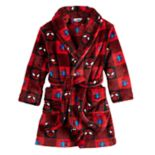 Toddler Boy Marvel Spider-Man Buffalo Plaid Robe