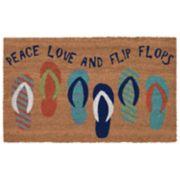 Liora Manne Natura Flip Flops Indoor Outdoor Coir Doormat - 18'' x 30''