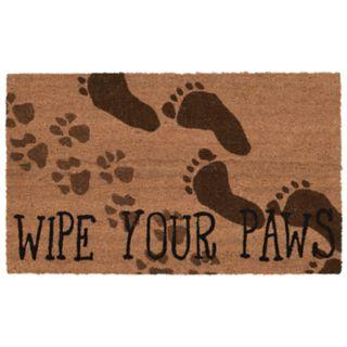 Liora Manne Natura ''Wipe Your Paws'' Indoor Outdoor Coir Doormat - 18'' x 30''