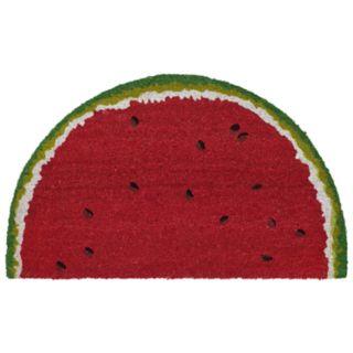 Liora Manne Natura Watermelon Slice Indoor Outdoor Coir Doormat - 18'' x 30''
