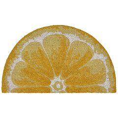 Liora Manne Natura Lemon Slice Indoor Outdoor Coir Doormat - 18'' x 30''