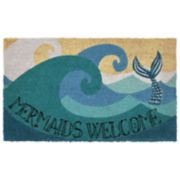 Liora Manne Natura ''Mermaids Welcome'' Indoor Outdoor Coir Doormat - 18'' x 30''