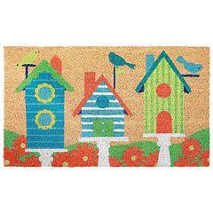 Liora Manne Natura Birdhouses Indoor Outdoor Coir Doormat - 18'' x 30''