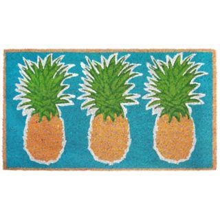 Liora Manne Natura Pineapples Indoor Outdoor Coir Doormat - 18'' x 30''