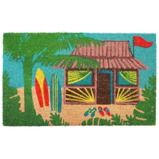 Liora Manne Natura Tiki Hut Indoor Outdoor Coir Doormat - 18'' x 30''