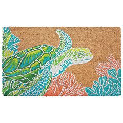 Liora Manne Natura Sea Turtle Indoor Outdoor Coir Doormat - 18'' x 30''