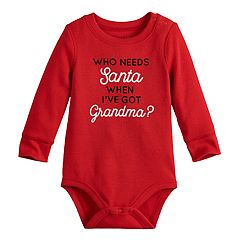 Baby Boy Jumping Beans® Thermal Santa Bodysuit