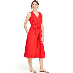 Women's IZOD Button-Front Midi Dress