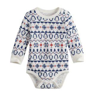 Baby Boy Jumping Beans® Fairisle Thermal Bodysuit