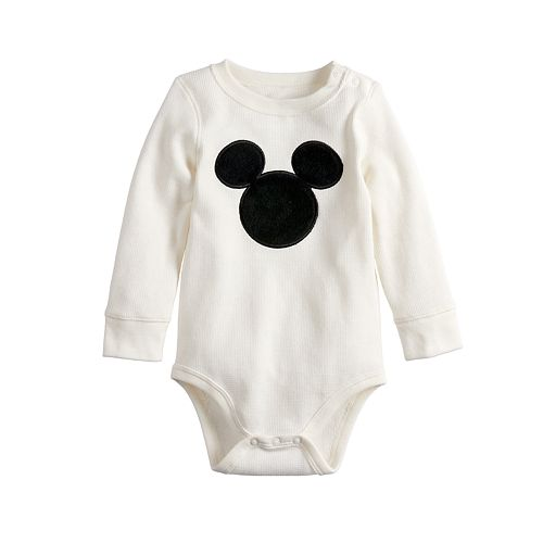 Disney's Mickey Mouse Baby Boy Logo Thermal Bodysuit by Jumping Beans®